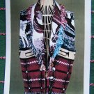 0 USA S&H Vintage Sewing Pattern Afghan Vest Blanket Jacket Sleeveless Coat