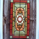 0 USA S&H Machine or Hand Applique Quilted Pattern Stain Glass Window Wallhanging