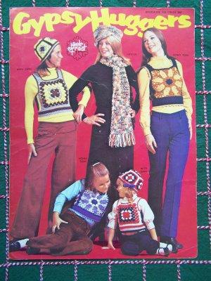 1970's Vintage Jack Frost Hippie Vest Tops Knitting & Crochet Patterns