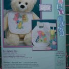 USA S&H Free New Dimensions Stamped Cross Stitch Alphabet Zoo Baby Hugs Bibs Craft Kits