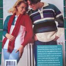 1990s Regency Windsor Family Sweaters Knitting Patterns Classic Raglans Henley Tunics