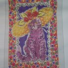 New Tulip Iron On Transfer Lavender Cat For Light Color Fabrics 1990s