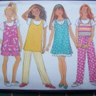New Busybodies Sewing Pattern Easy Girls Tank Top Dress Tunic Shorts Pants 7 8 10 3967