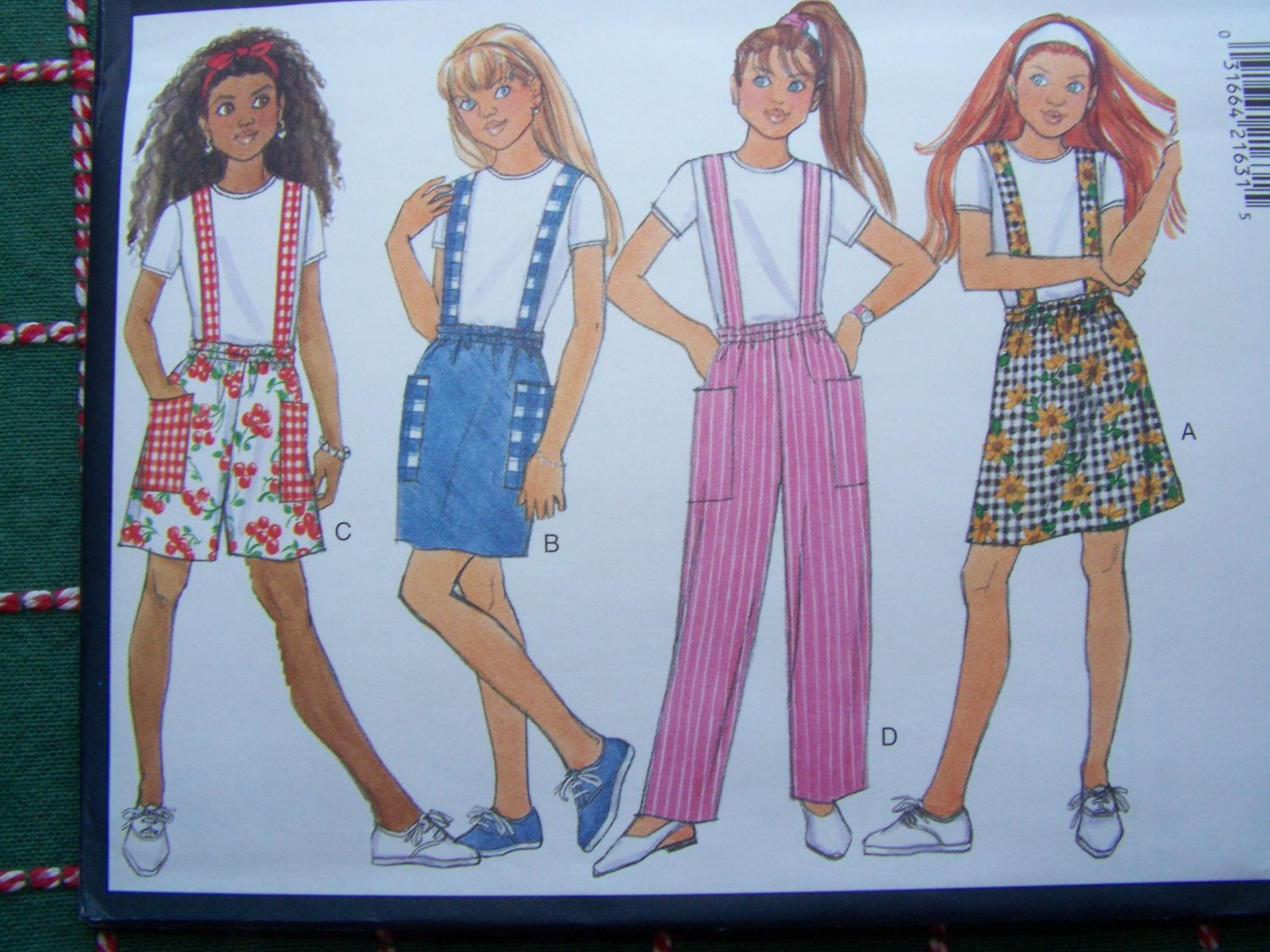 New Fast & Easy Butterick Girls 7 8 10 Summer Separates Sewing Pattern 4024