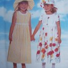 USA Free S&H New Girls 5 6 6X Raised Waist Dirndl Skirt Back Ties Hat Sewing Pattern 4901