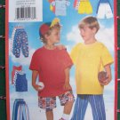 New Boys 2 3 4 5 6 6X T Shirt Tank Top Shorts Pants Butterick Kids Sewing Pattern 4902