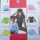 6 Easy Girls Shirts 3 4 5 6 Sewing Patterns 4909 Slim or Flounce Tops Arm Warmers
