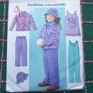 New Girls 2 3 4 5 Sewing Pattern 4335 Fleece A Line Dress Jumpsuit Pants Jacket Hat