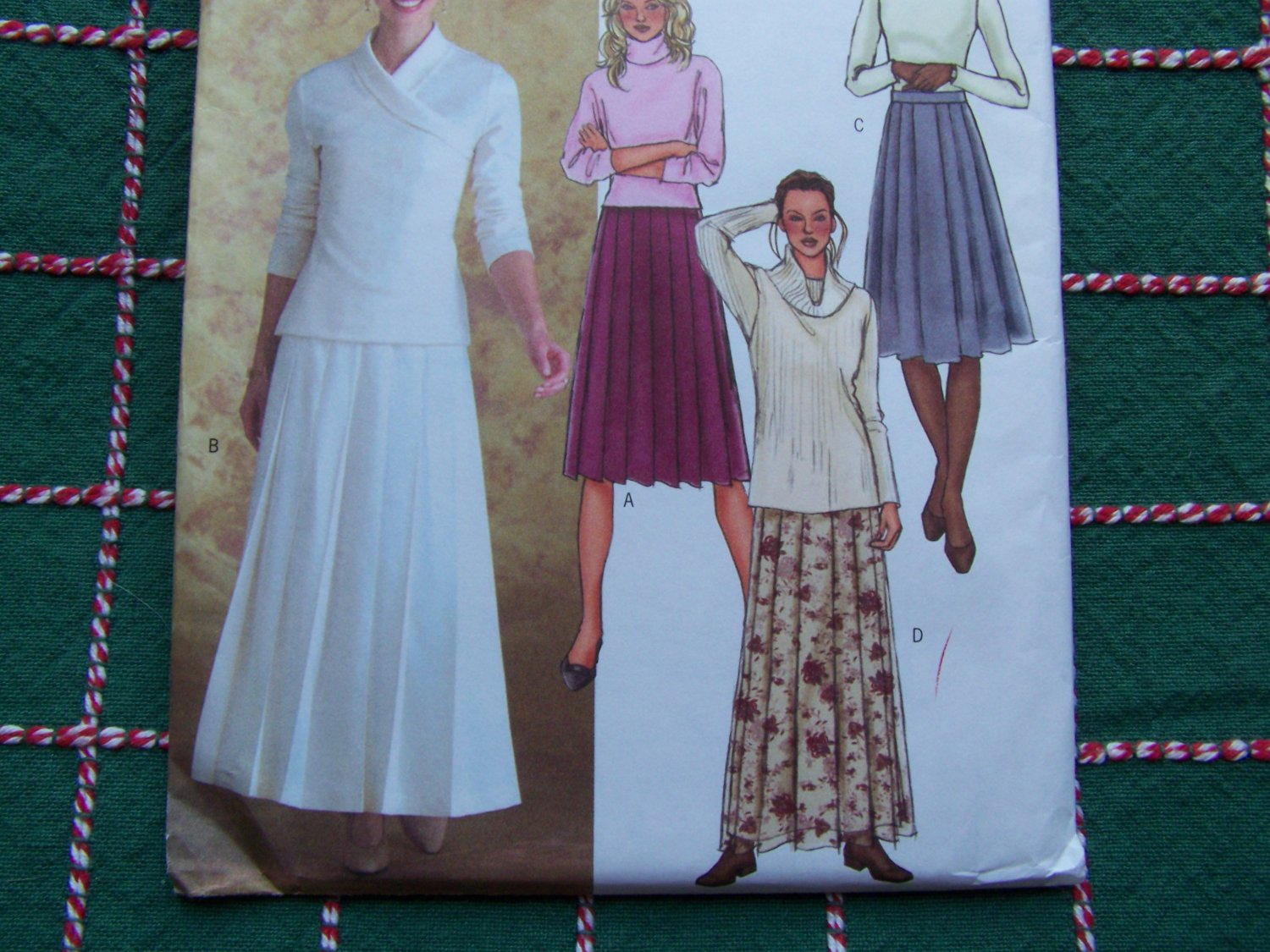 S&H Free USA New Misses Sewing Pattern 4350 Skirts Pleated Flared Midi or Maxi Length 14 16 18 20