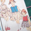 1960's New Vintage Dress Girls 4 Sewing Pattern 3340 Drop Waist Full Twirl Skirt Weskit Vest