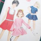 Uncut 1960's Girls Sz 4 Dress Sewing Pattern 4143 Twirly Circle Skirt Round or Peter Pan Collar