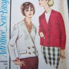 New 1960's Sewing Pattern 3508 Misses Jackie O Jacket Plus Size 20 Bust 40