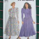 New Misses Dress Sewing Pattern 7517 Fitted Panelled Bodice Full Gathered SKirt 8 - 20
