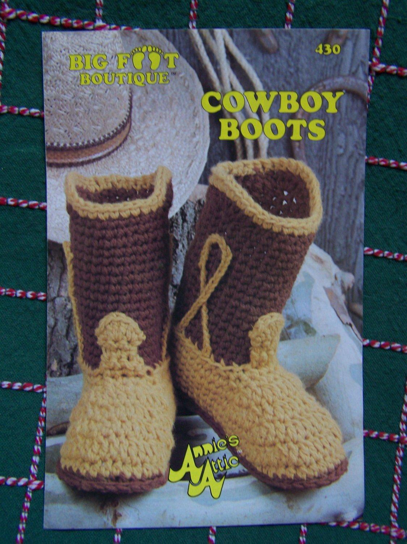 S Amp H Free Usa Vintage Cowboy Boots Annies Attic Crochet