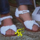 USA Free S&H Vintage Annies Attic Crochet Pattern Sandals Ladies & Girls Sizes