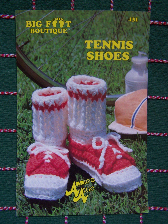 S&H 0 USA Vintage Crochet Pattern Tennis Shoes Adults & Children's Sizes S M L Big Foot Boutique