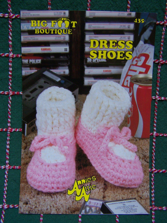 Vintage Annie's Attic Crochet Pattern Dress Shoes Womens & Child's Sizes Big Foot Boutique 435