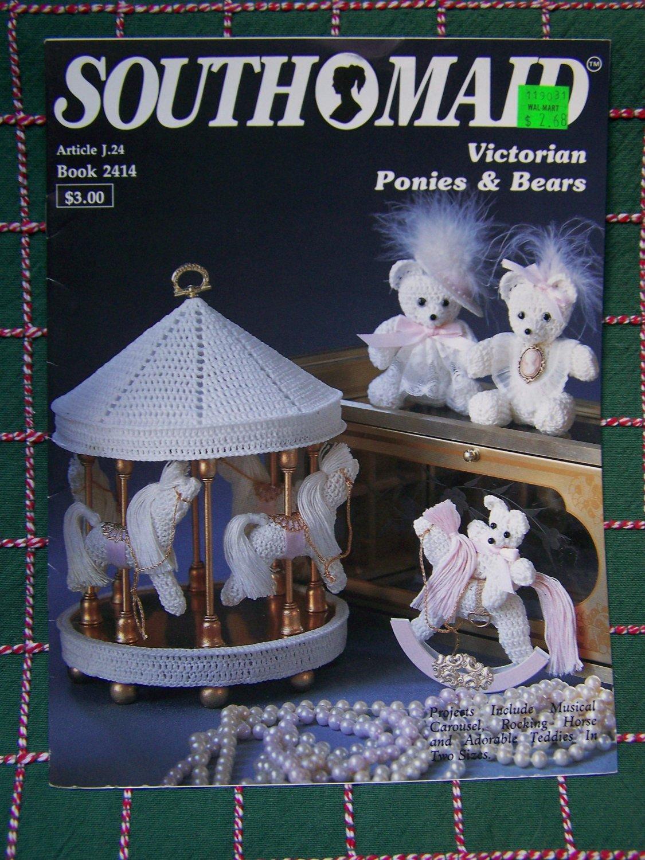 Vintage Crochet Patterns Victorian Rocking Horse Carousel Pony Bears