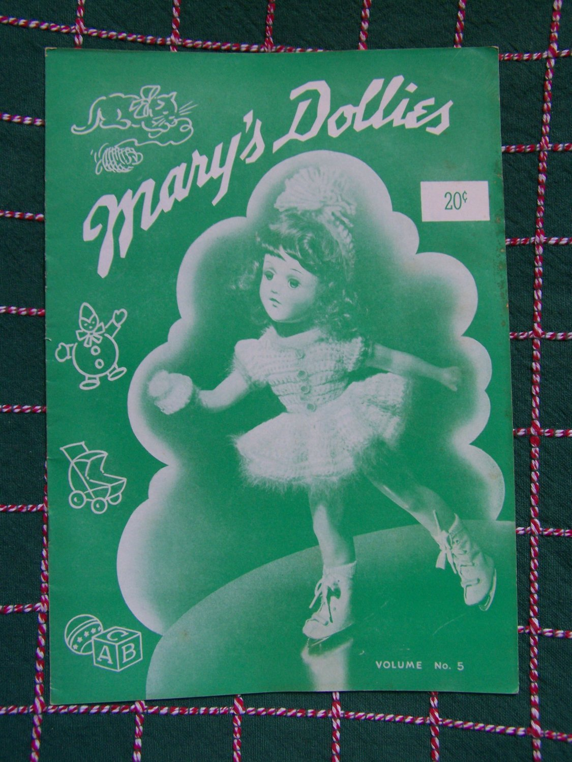 1941 Mary Hoyer Doll Knitting Patterns Mary's Dollies # 5 Original
