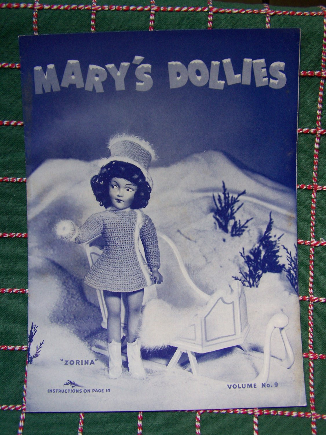 Vintage 1940's Mary Hoyer Knitting Patterns Mary's Dollies Volume 9 Original Book