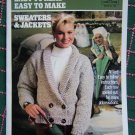 Vintage Knitting Crochet Coats & Clark Easy to Read Sweaters & Jackets Book 100