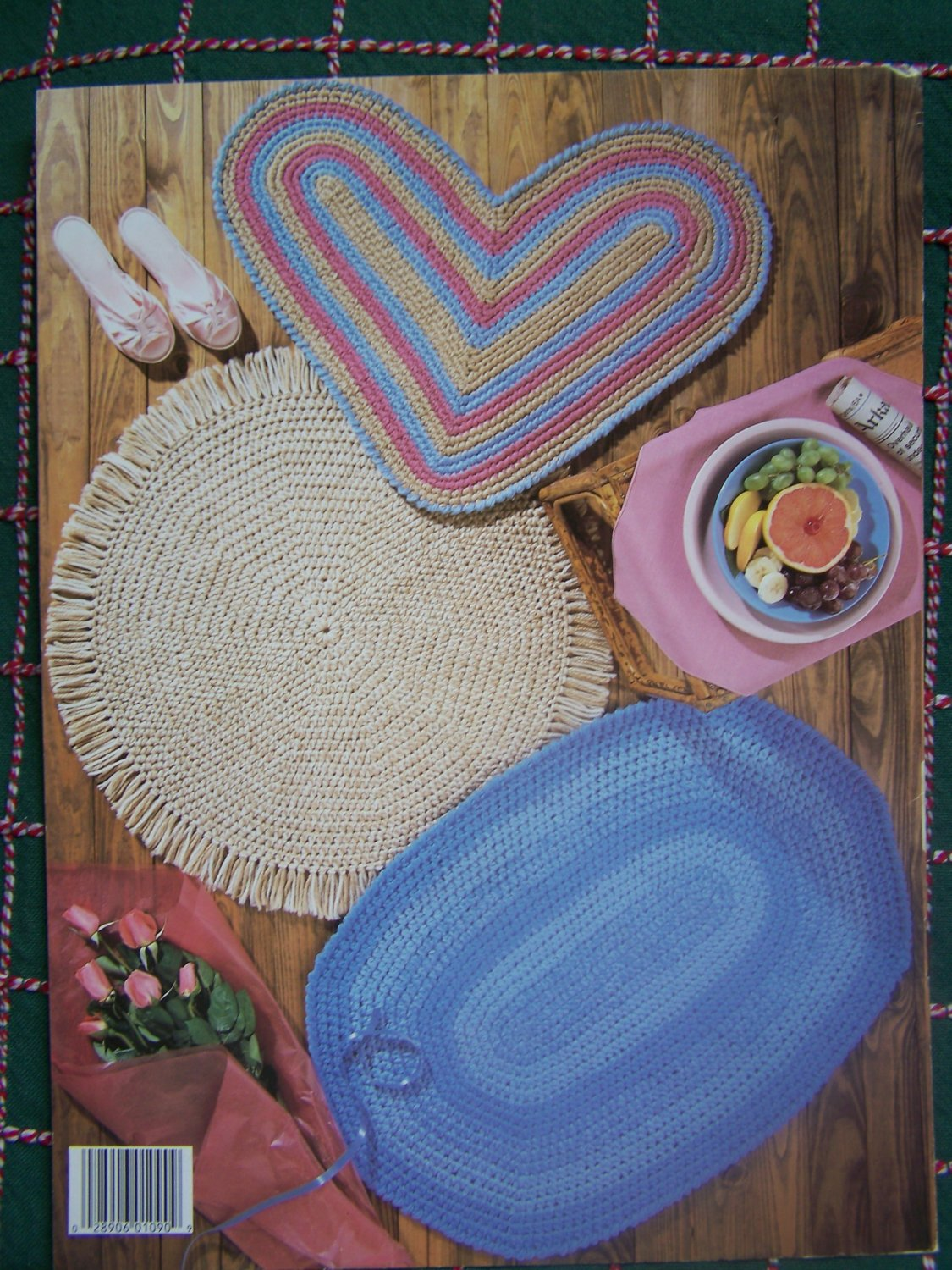 Vintage 1980s Quick Crochet Throw Rugs 5 Patterns Oval