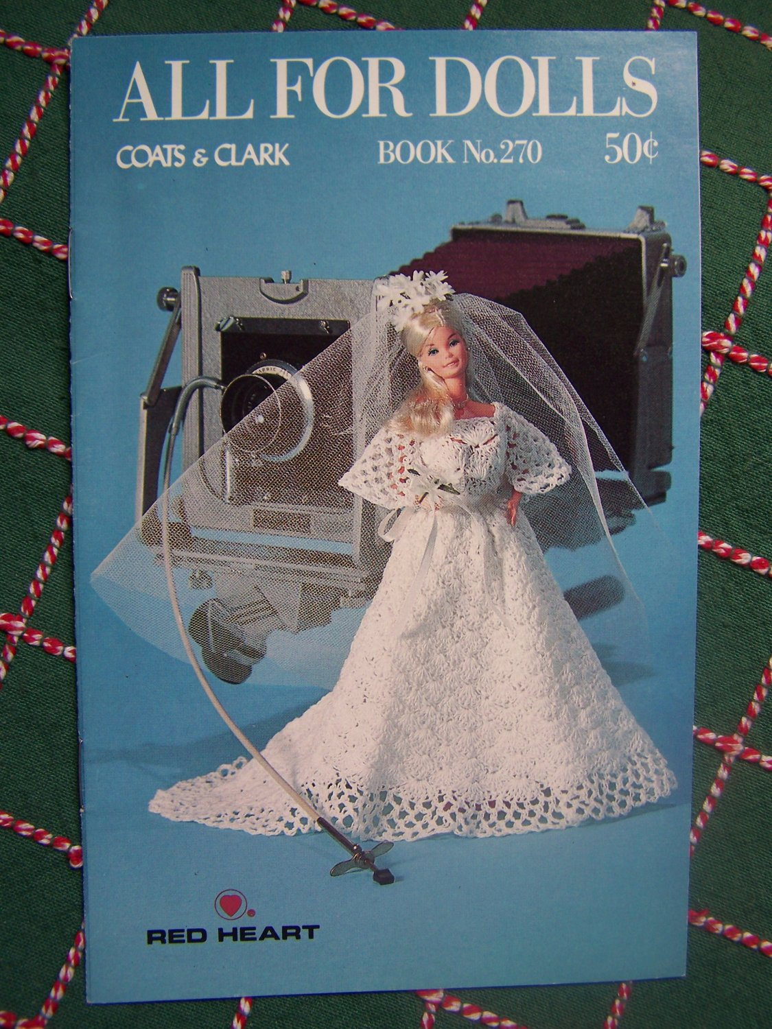 """Vintage New All For Dolls Coats & Clarks Crochet Pattern Book 270 Barbie 11.5 & Baby Doll 13"""""""