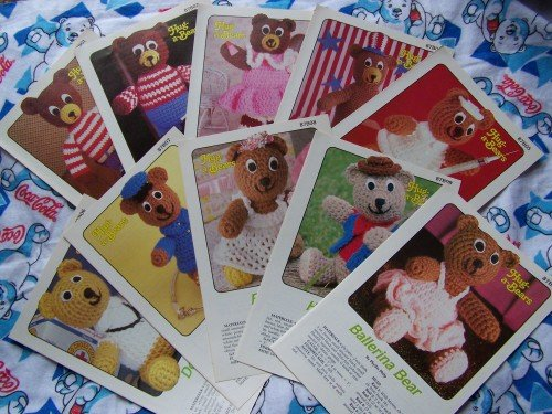 Lot of 10 Annie's Attic Vintage Crochet Patterns Hug A Bears Stuffed Animal Toys