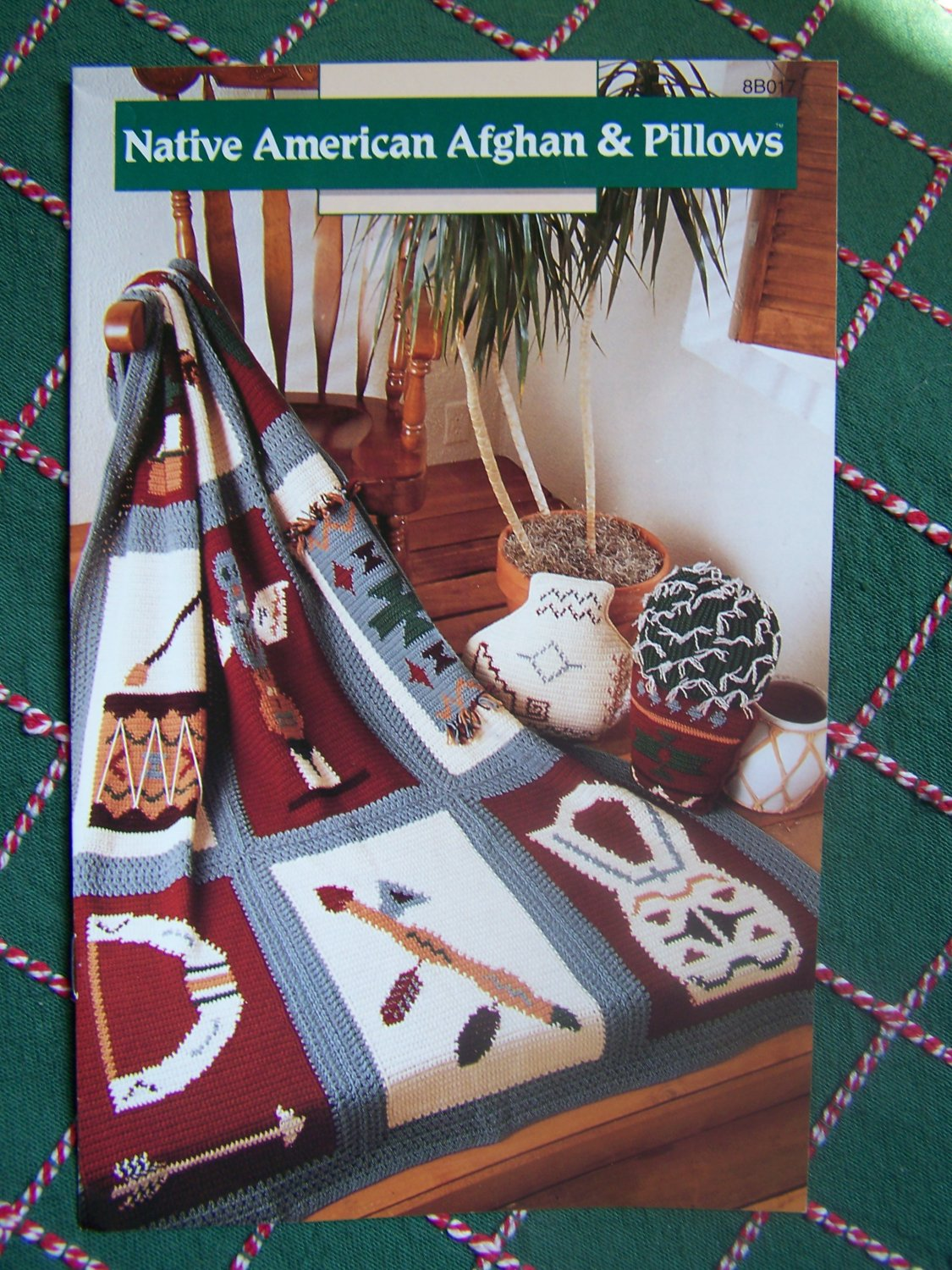 USA Free S&H  Annie's Crochet Patterns Native American Indian Afghan & Cactus Water Pot Pillows