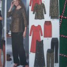 Free USA S&H Uncut Maternity Sewing Pattern 9516 Knit Dress or Top Front Panel Pants Skirt Shawl