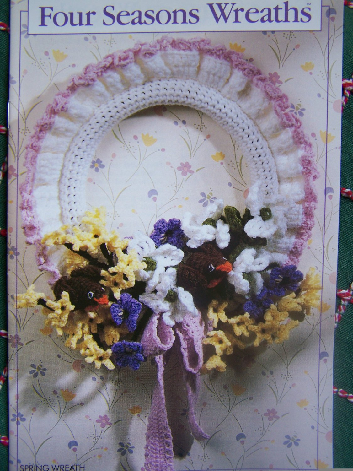 USA Free S&H Vintage Annie's Attic Crochet Patterns Four Seasons Wreaths 87F35