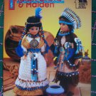 "USA Free S&H Annie's Attic Crochet Patterns 15"" Dolls Indian Brave & Maiden"