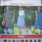 Uncut Sewing Pattern 7577 Plus Size 20 22 24 Full SKirt Dress Sleeveless or Short Sleeves