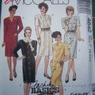 Free S&H USA Uncut 1980's Dress Sewing Pattern 4642 Button Front SHoulder Tucks 16 18 20