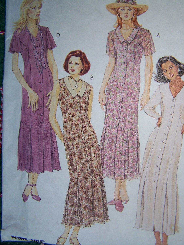 S&H Free USA New Sewing Pattern 6993 Princess Seam Dress Invrted Hem Pleats 14 16 18