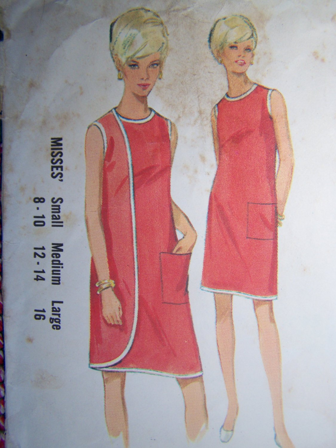 USA Free S&H Uncut Vintage 1960's Wrap Dress Sewing Pattern 4699 Large
