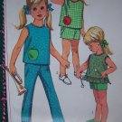 Uncut Girls Vintage Sewing Pattern 7113 Summer Top SHorts Pants USA Free S&H