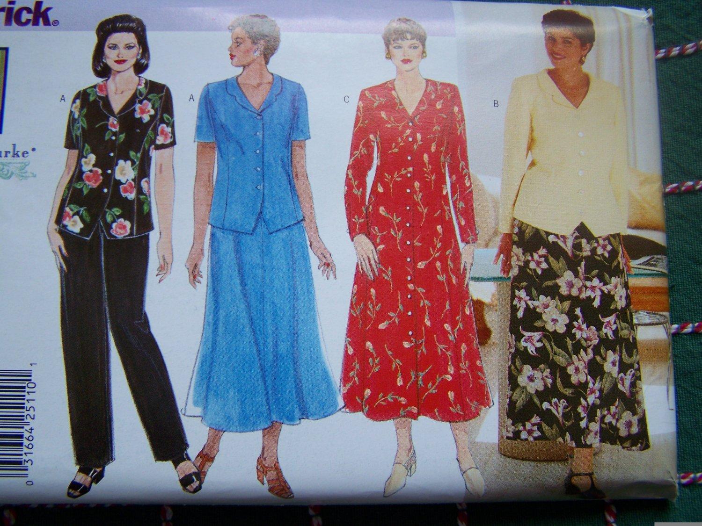 Uncut 1990s Plus Size Delta Burke Separates Wardrobe Sewing Pattern 26W 28W 30W 4875