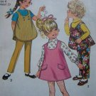 Free USA S&H Uncut Toddler Girls Vintage Tent Jumper Dress or Top & Pants Sewing Pattern 8303