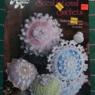 Free USA S&H Annie's Attic Thread Crochet Patterns Lacy Sachets Baskets