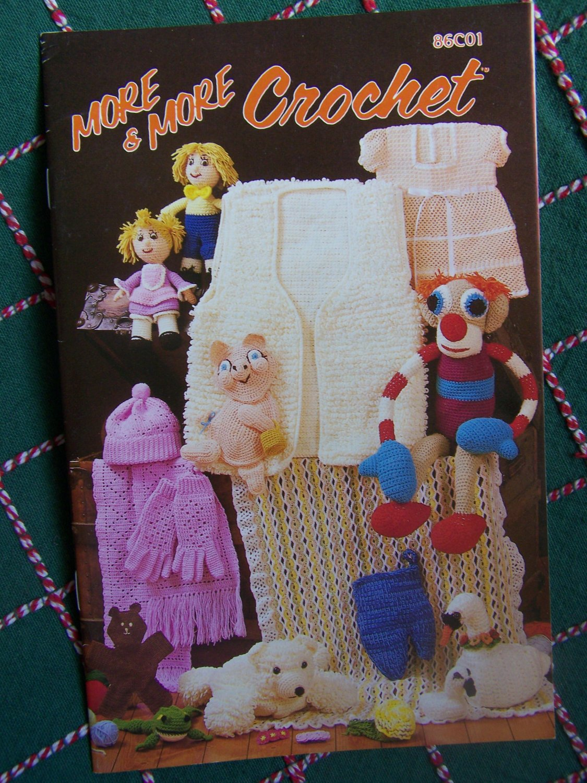 1980s Annie's Pattern Club Book 86C01 More & More Crochet