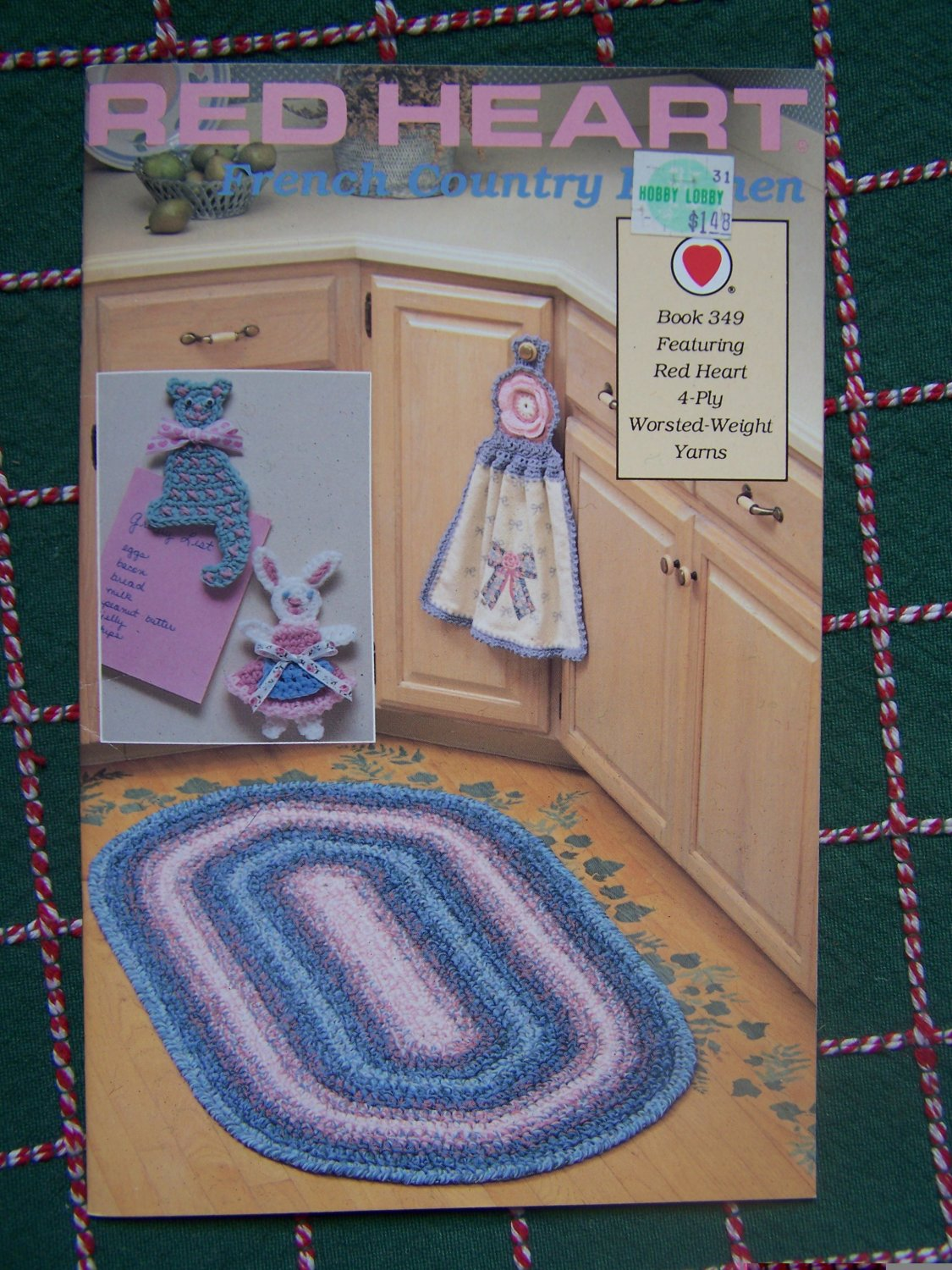 New Red Heart Crochet Patterns Book 349 French Country Kitchen