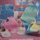 New Baby Bibs To Crochet Patterns NB 3M 6M Toddler 416