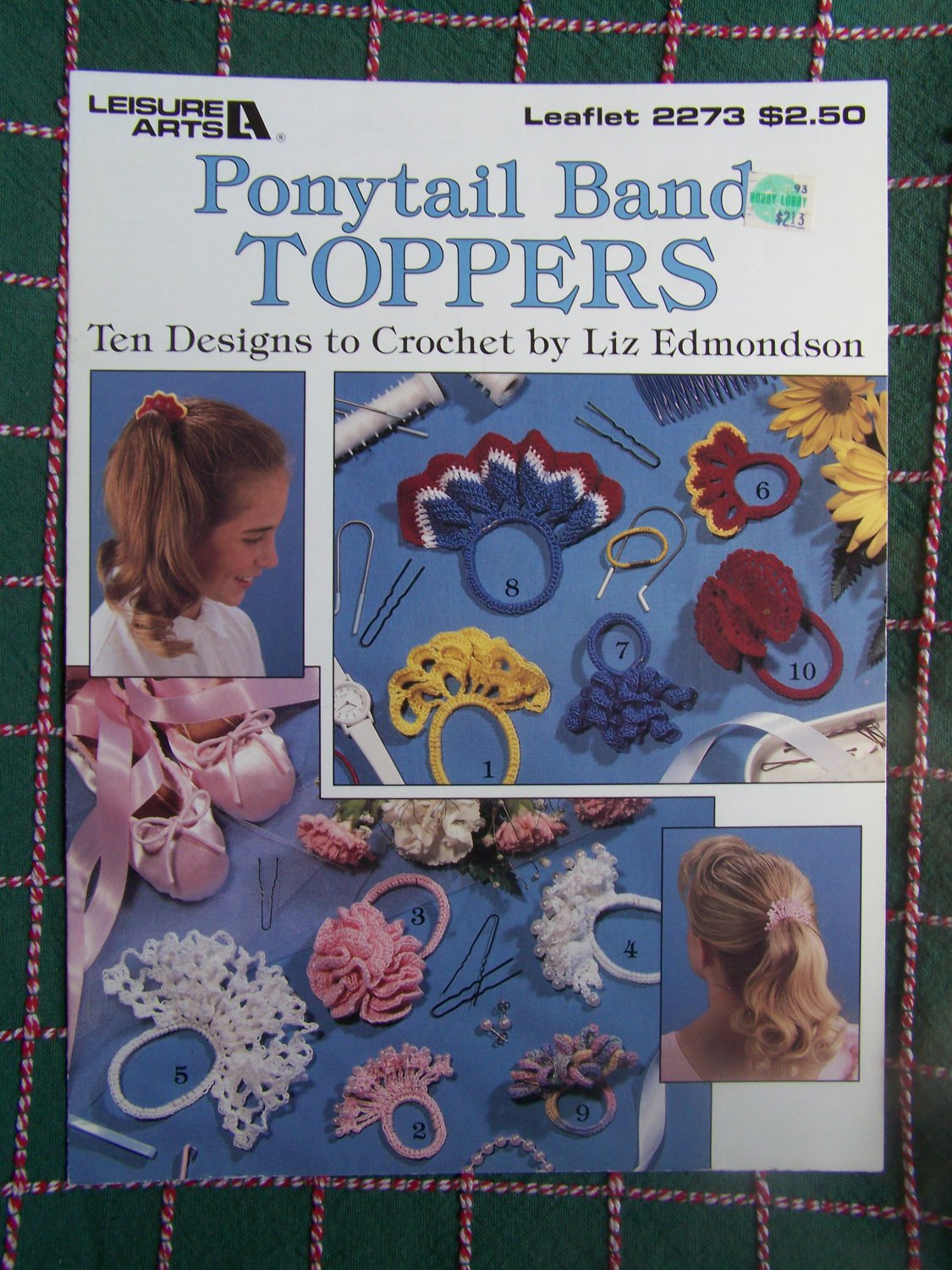 10 Crochet Patterns Hair Bands Toppers Dillys Holders Ponytail Bows 2273