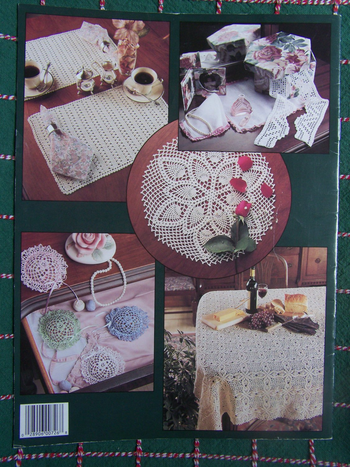 Vintage Crochet Patterns Tablecloth Ornaments Baby Doily Sachet Placemat Mixed 726