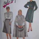 Uncut Vintage 80's Sewing Pattern 6676 Plus Size Bust 44 SKirt Blouse Unlined Cape 22