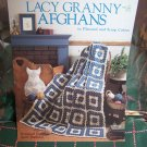 4 Vintage Crochet Patterns Lacy Granny Afghans 480