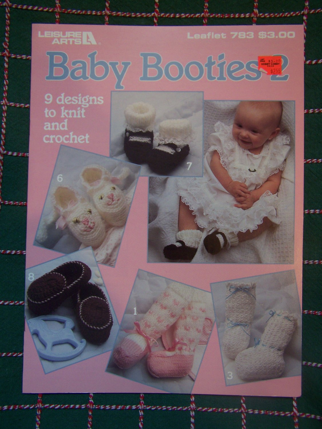 9 New Vintage Baby Booties 2 Knitting & Crochet Patterns 783