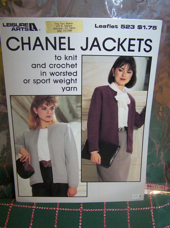 Vintage Chanel Jackets Knitting & Crochet Patterns 523