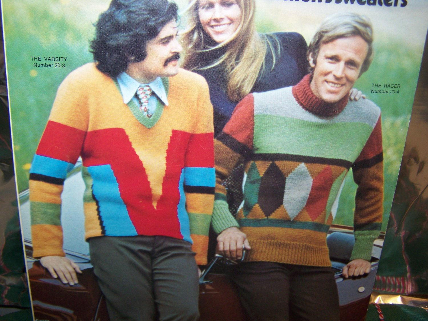 1970's Vintage Knitting Patterns 1920's Men's Pullover Sweaters 2535